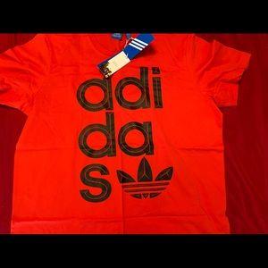 Adidas wrap logo t -shirt size xxl new